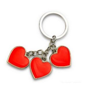 Cluster Heart Love Charm Keychain